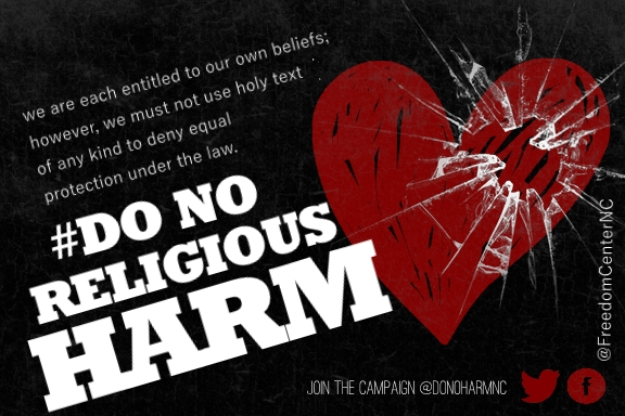 Do No Religious Harm Postcard Official 2